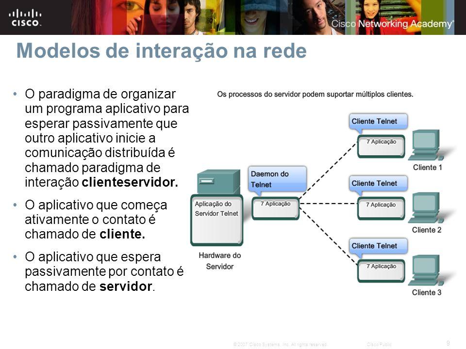 Modelos de interação na rede