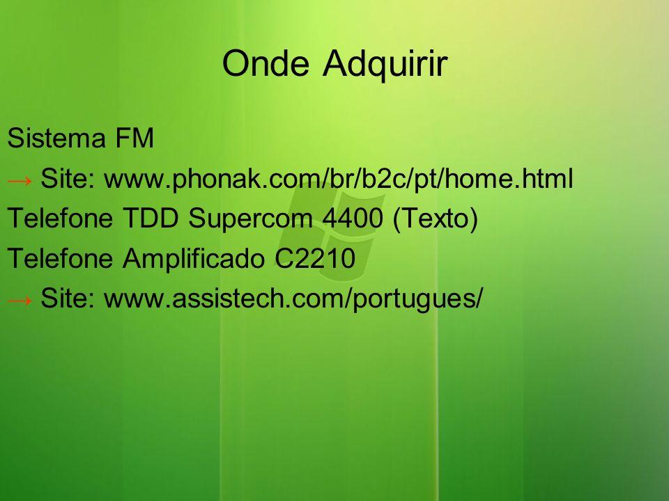Onde Adquirir Sistema FM Telefone TDD Supercom 4400 (Texto)