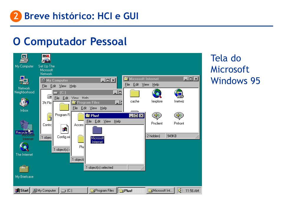 O Computador Pessoal 2 Breve histórico: HCI e GUI