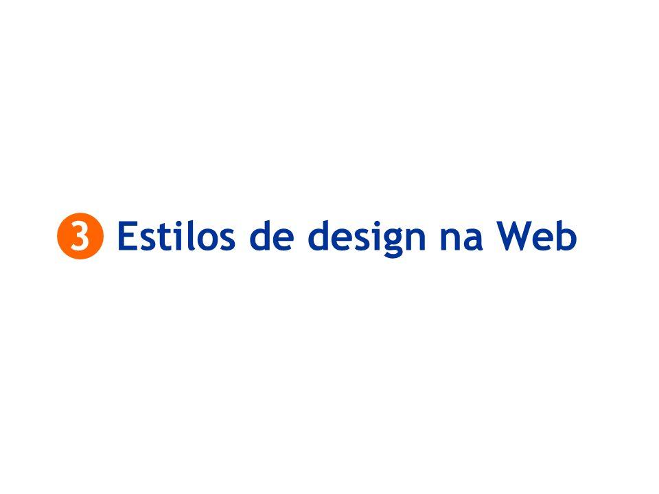 3 Estilos de design na Web