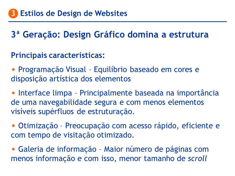 3ª Geração: Design Gráfico domina a estrutura