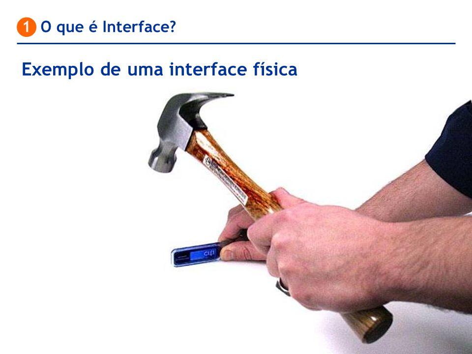 Exemplo de uma interface física