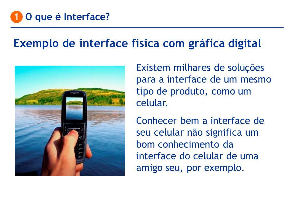 Exemplo de interface física com gráfica digital