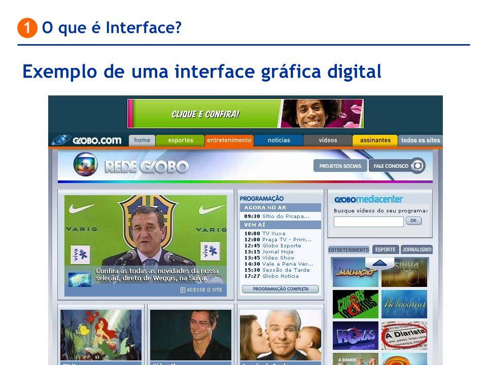 Exemplo de uma interface gráfica digital