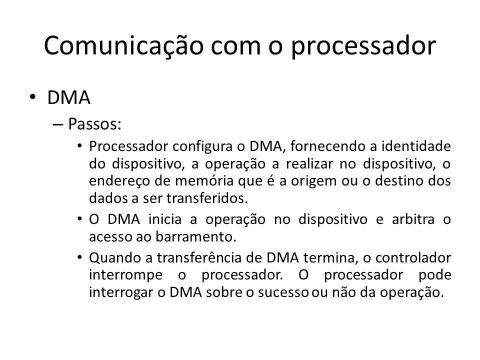 Comunicação com o processador