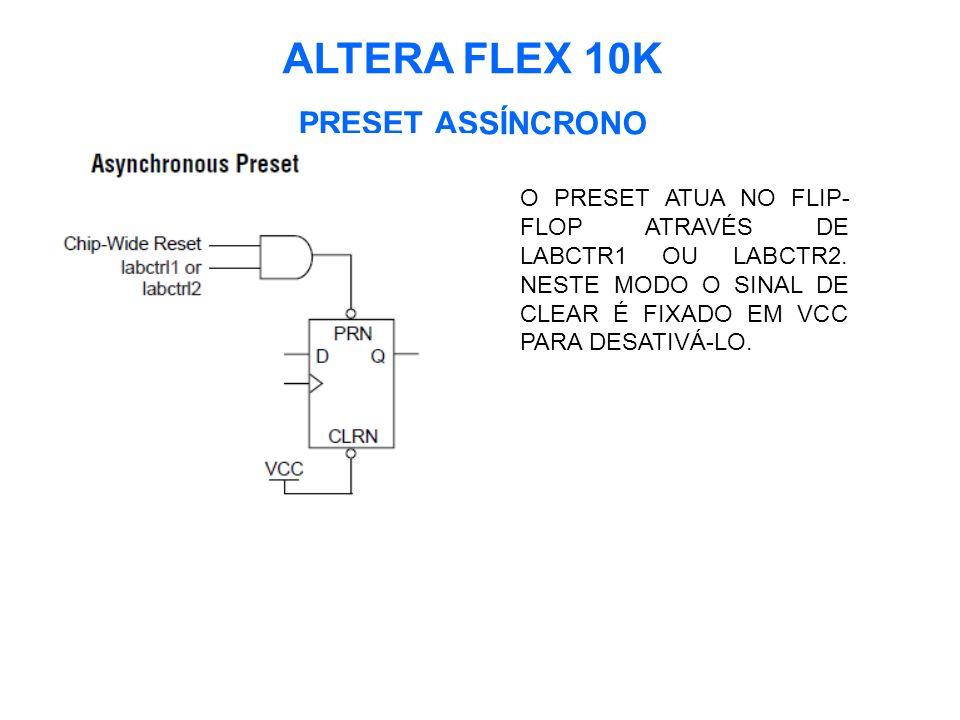ALTERA FLEX 10K PRESET ASSÍNCRONO