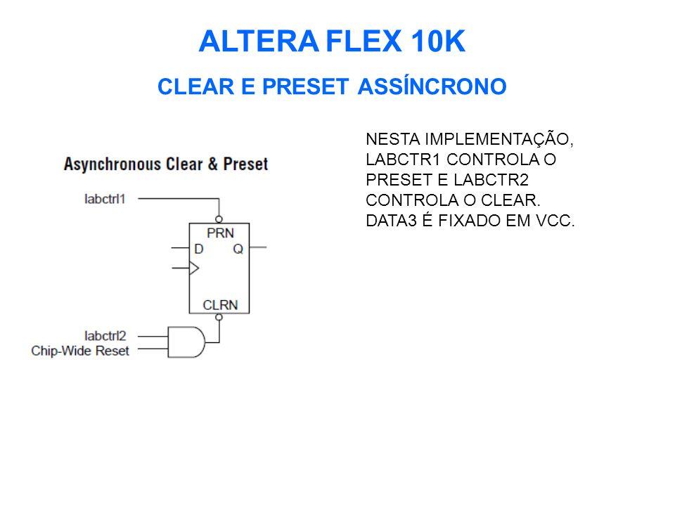 CLEAR E PRESET ASSÍNCRONO
