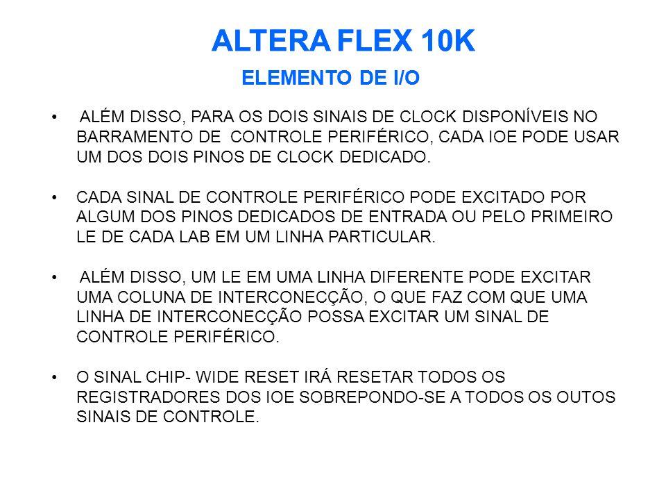 ALTERA FLEX 10K ALTERA FLEX 10K