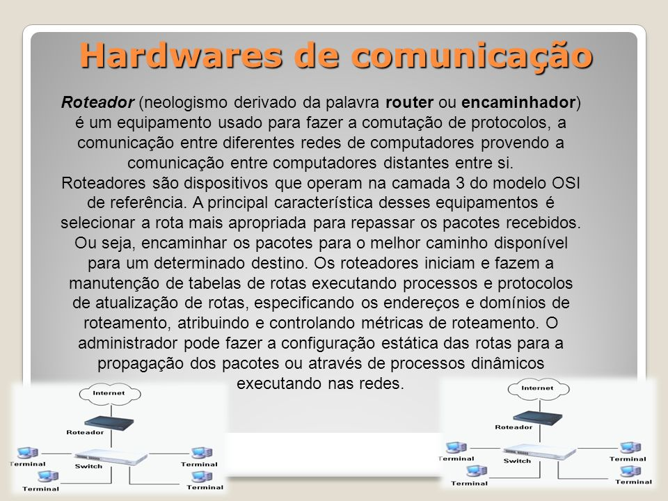 Hardwares de comunicação