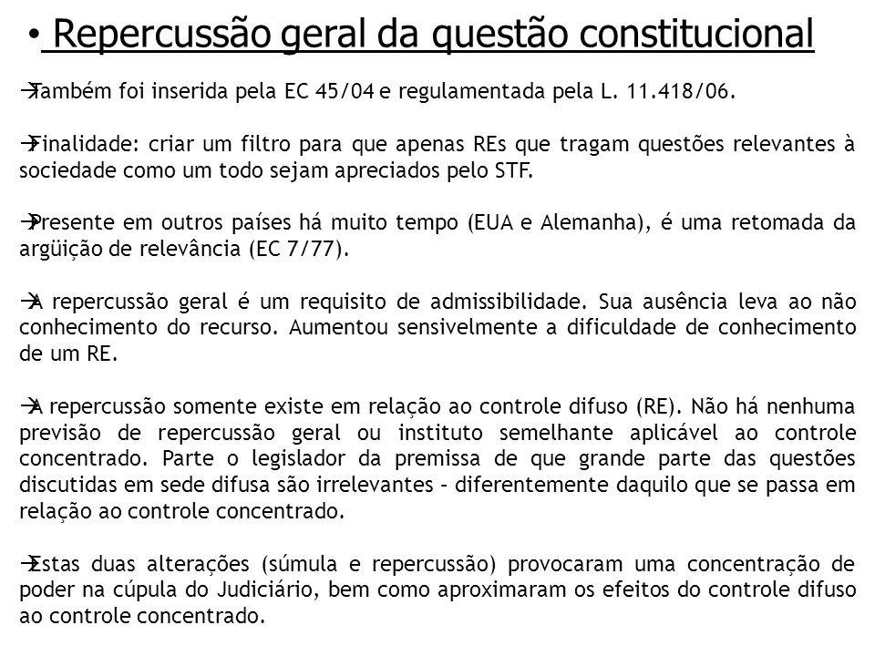 Repercussão geral da questão constitucional