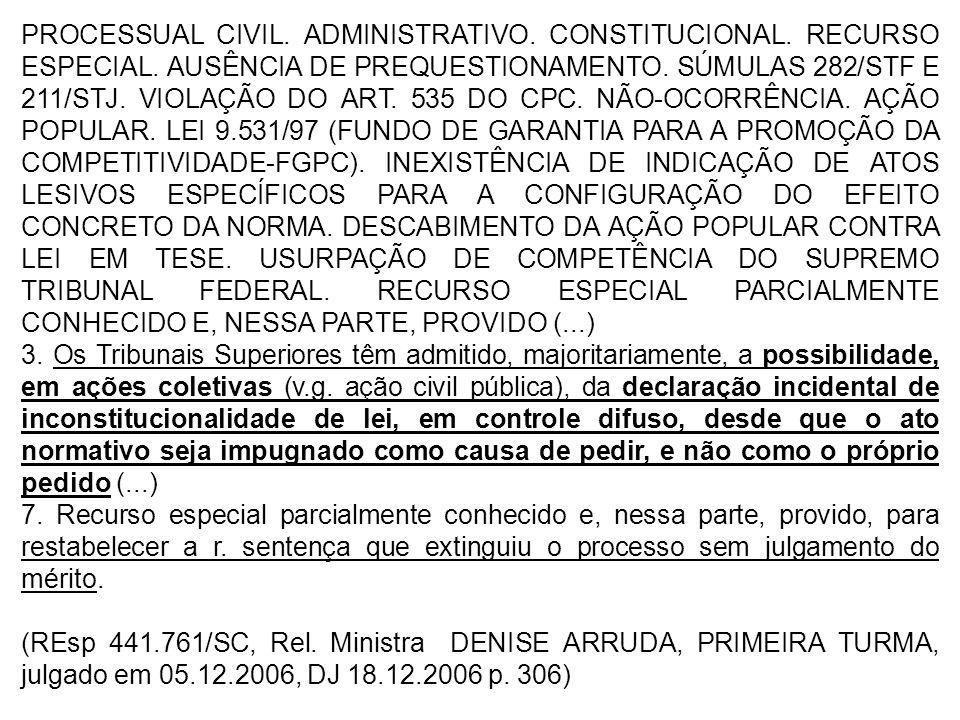 PROCESSUAL CIVIL. ADMINISTRATIVO. CONSTITUCIONAL. RECURSO ESPECIAL