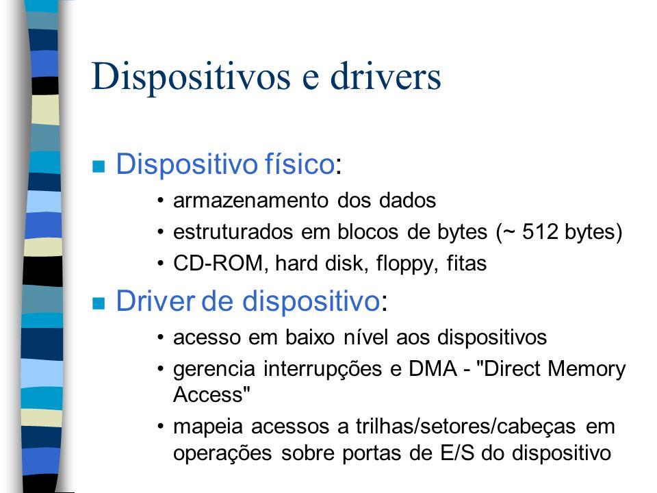 Dispositivos e drivers