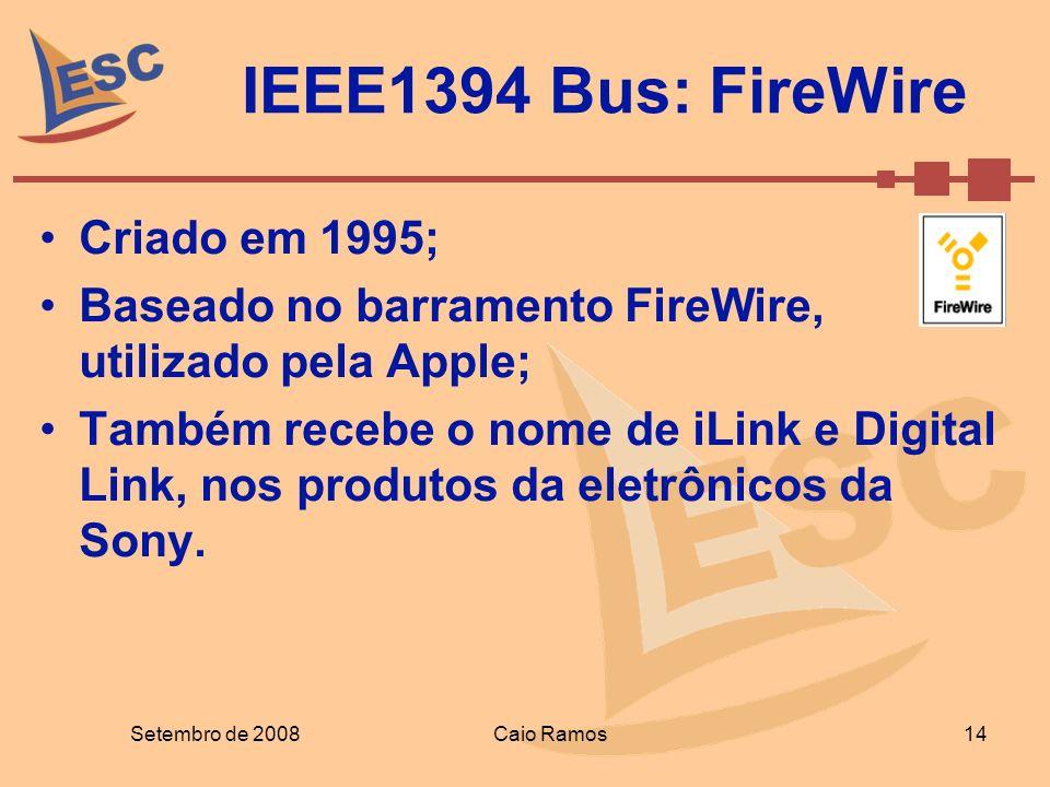 IEEE1394 Bus: FireWire Criado em 1995;