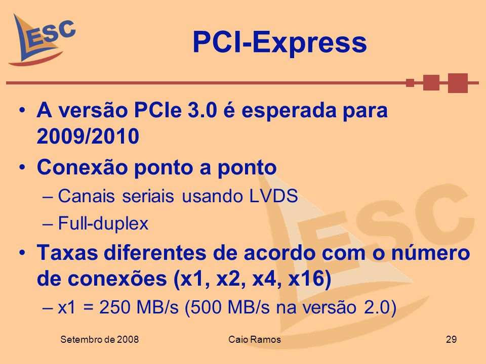 PCI-Express A versão PCIe 3.0 é esperada para 2009/2010