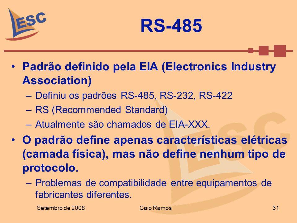 RS-485 Padrão definido pela EIA (Electronics Industry Association)