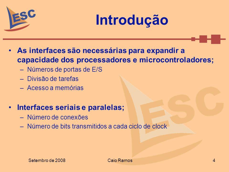 Introdução As interfaces são necessárias para expandir a capacidade dos processadores e microcontroladores;