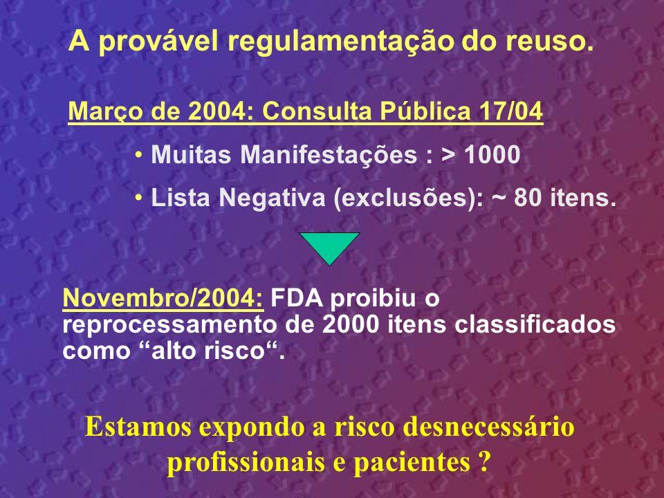 A provável regulamentação do reuso.