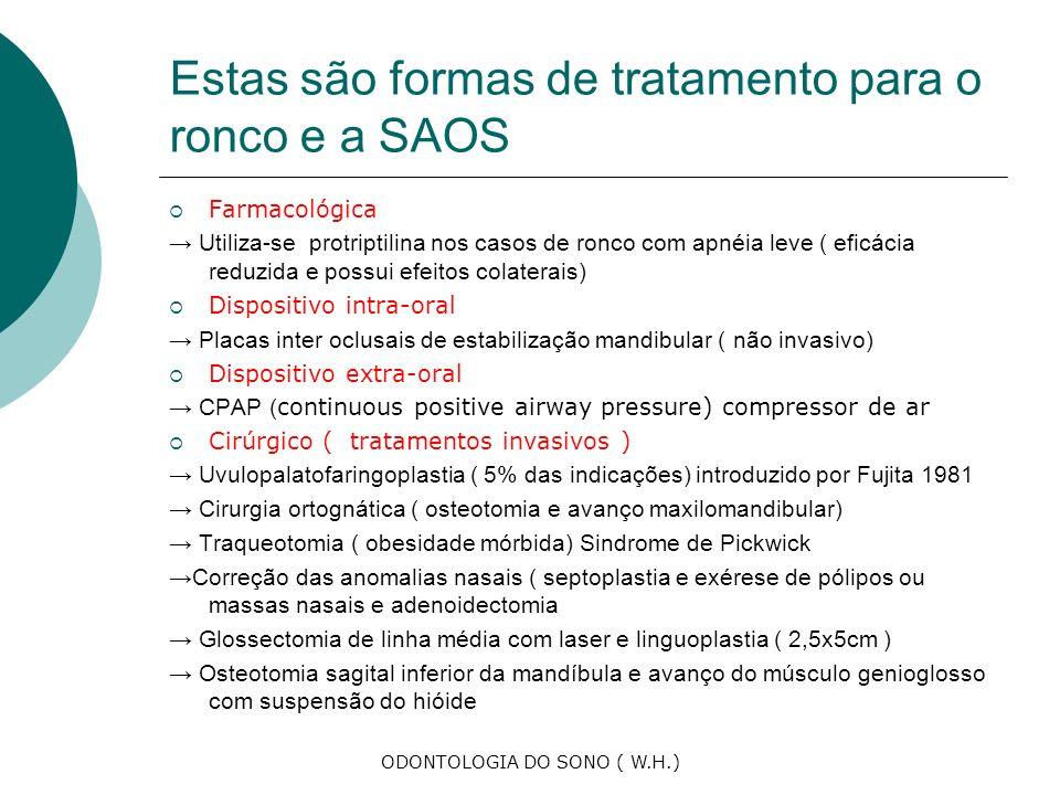 Estas são formas de tratamento para o ronco e a SAOS