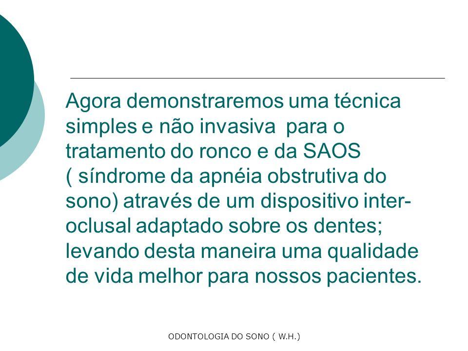 ODONTOLOGIA DO SONO ( W.H.)