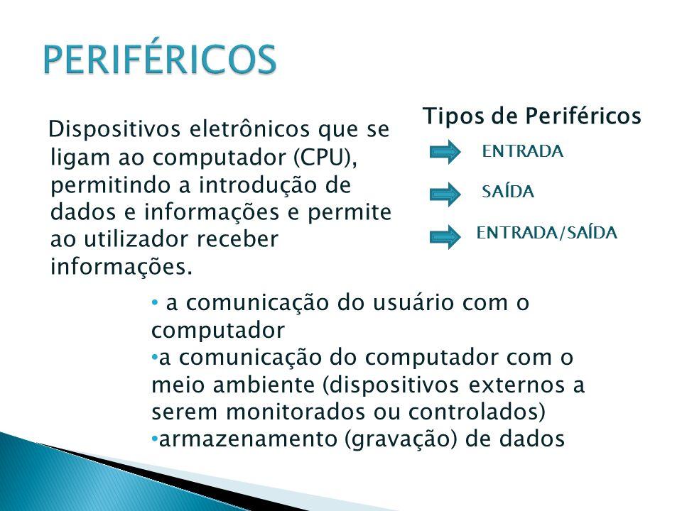 PERIFÉRICOS Tipos de Periféricos.