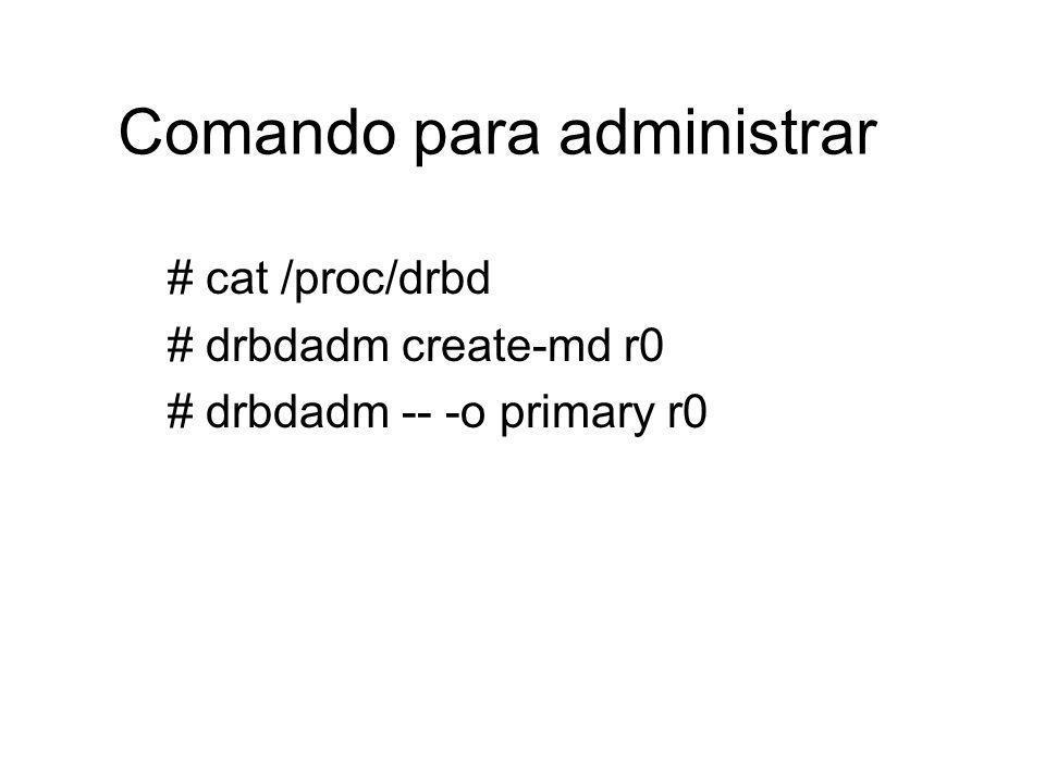 Comando para administrar
