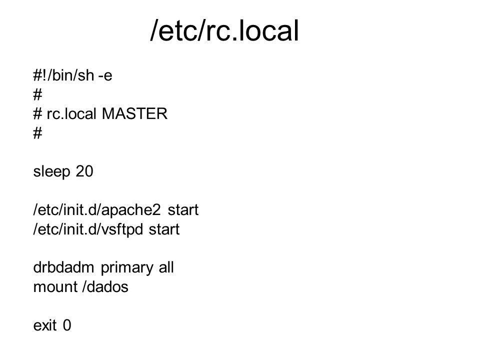/etc/rc.local #!/bin/sh -e # # rc.local MASTER sleep 20