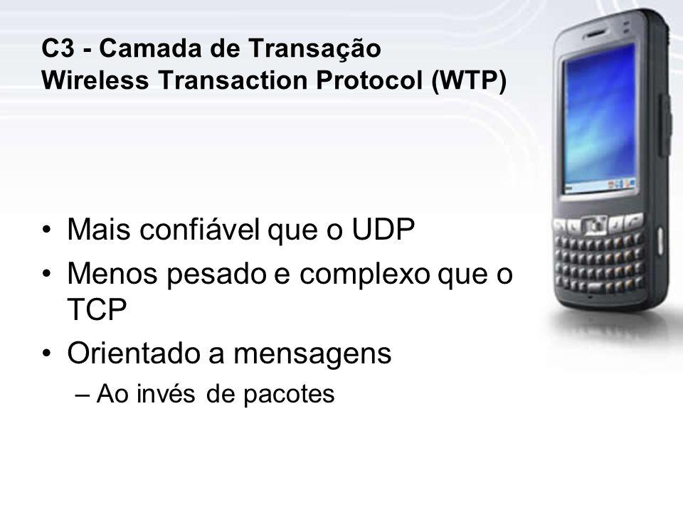 C3 - Camada de Transação Wireless Transaction Protocol (WTP)