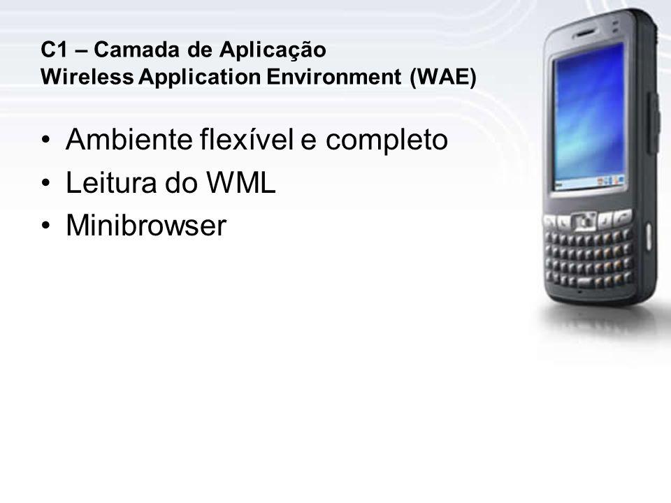 C1 – Camada de Aplicação Wireless Application Environment (WAE)