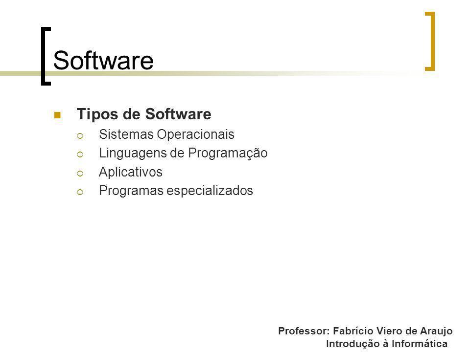 Software Tipos de Software Sistemas Operacionais