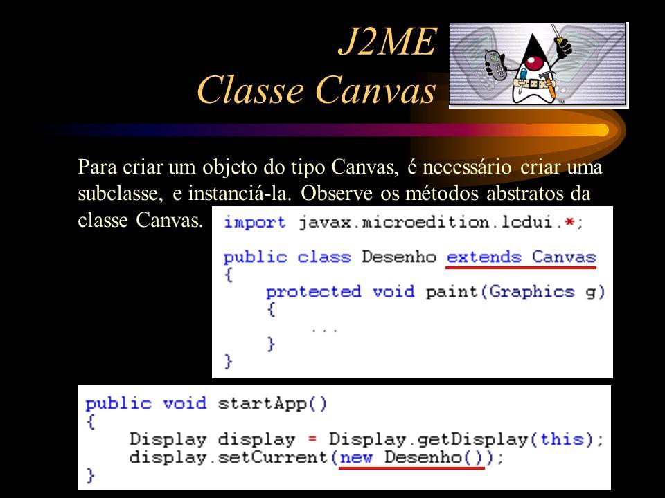 J2ME Classe Canvas