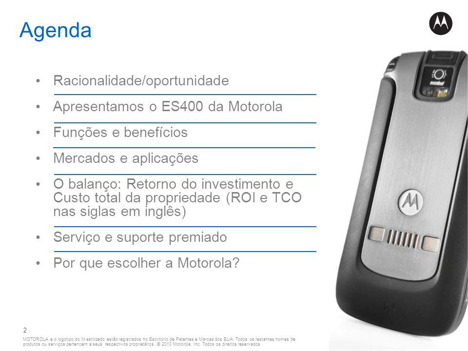 Agenda Racionalidade/oportunidade Apresentamos o ES400 da Motorola