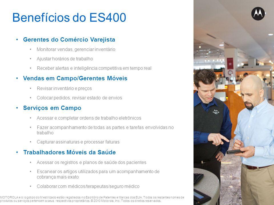 Benefícios do ES400 Gerentes do Comércio Varejista