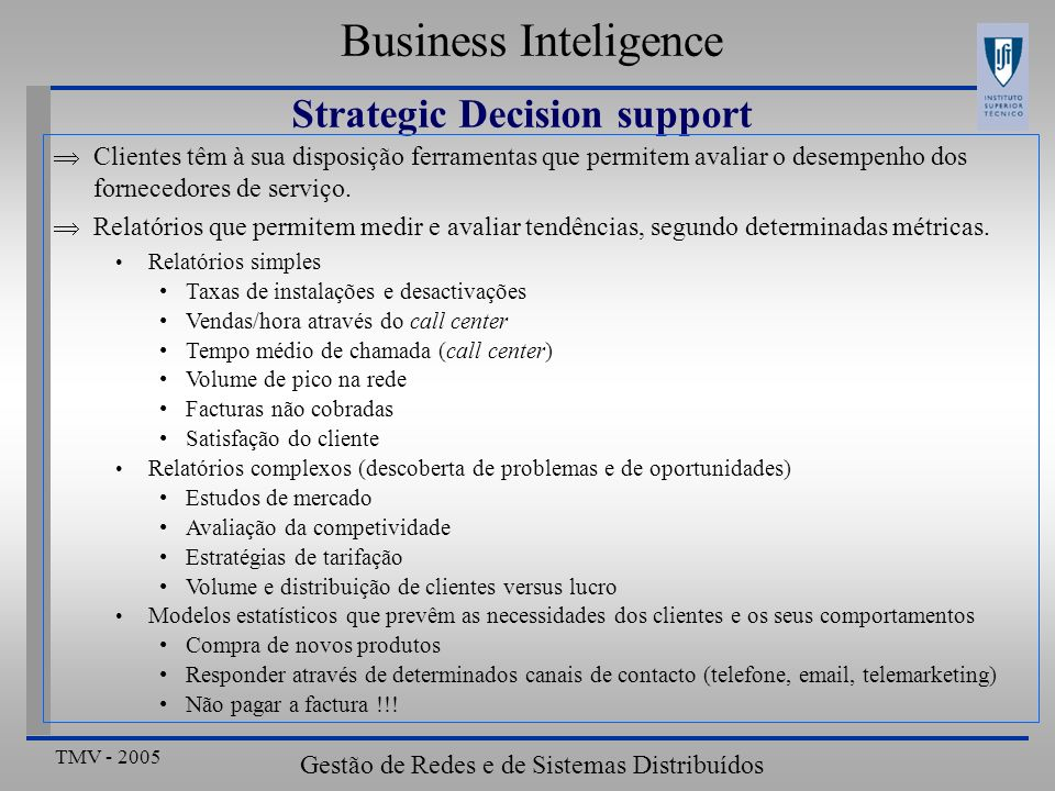 Strategic Decision support