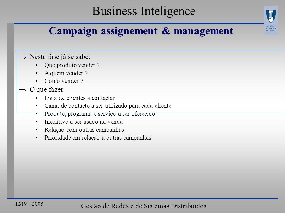 Campaign assignement & management
