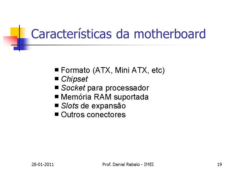 Características da motherboard