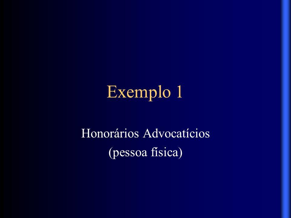 Honorários Advocatícios (pessoa física)
