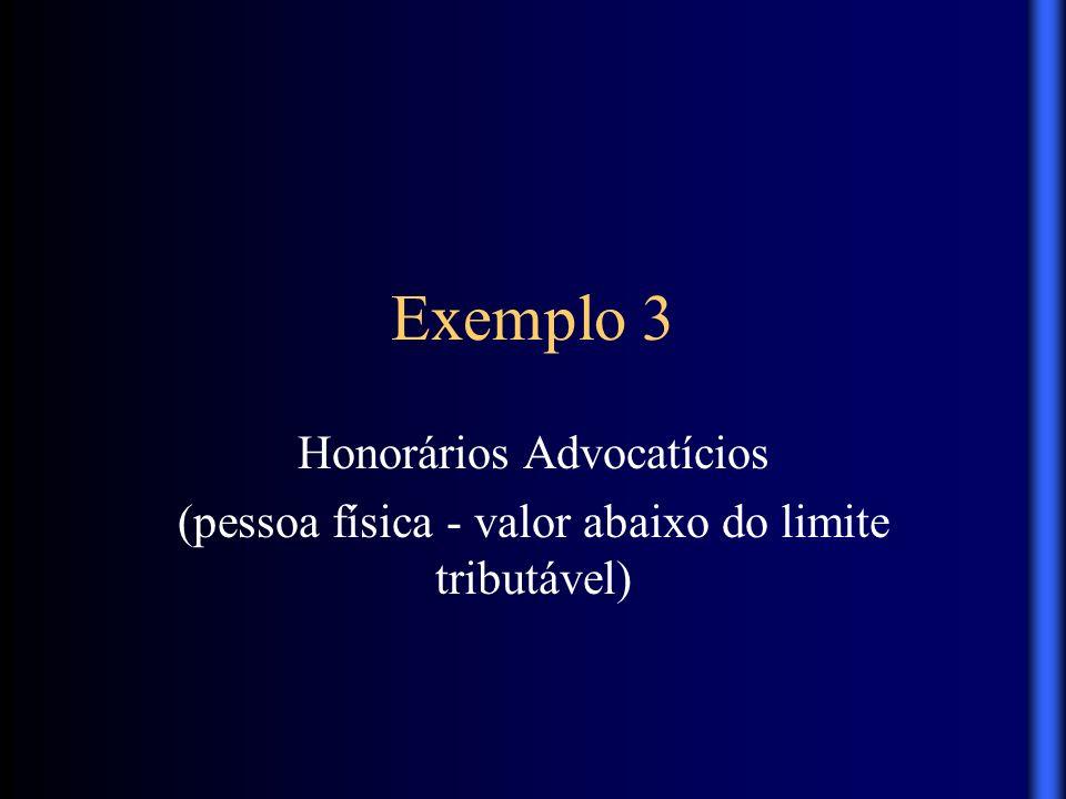 Exemplo 3 Honorários Advocatícios