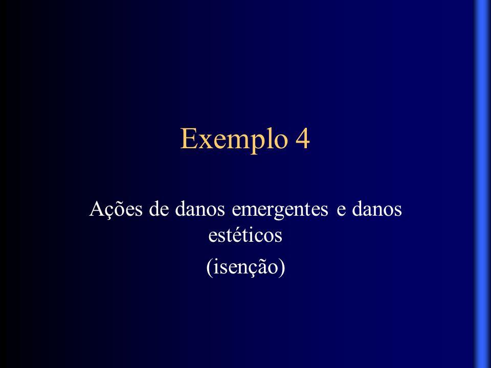Ações de danos emergentes e danos estéticos (isenção)