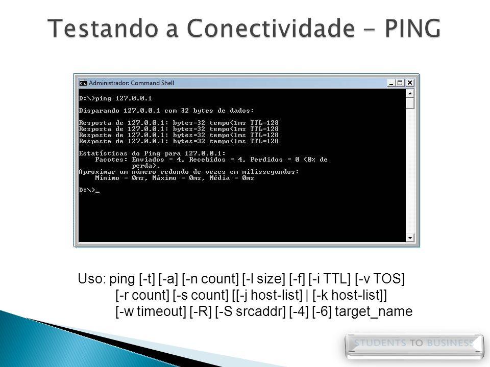 Testando a Conectividade - PING