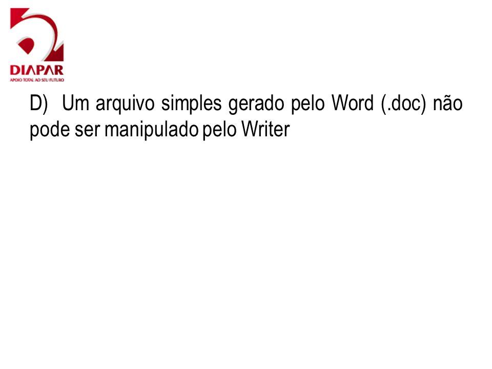 D) Um arquivo simples gerado pelo Word (