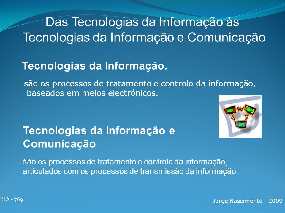 Das Tecnologias da Informação às