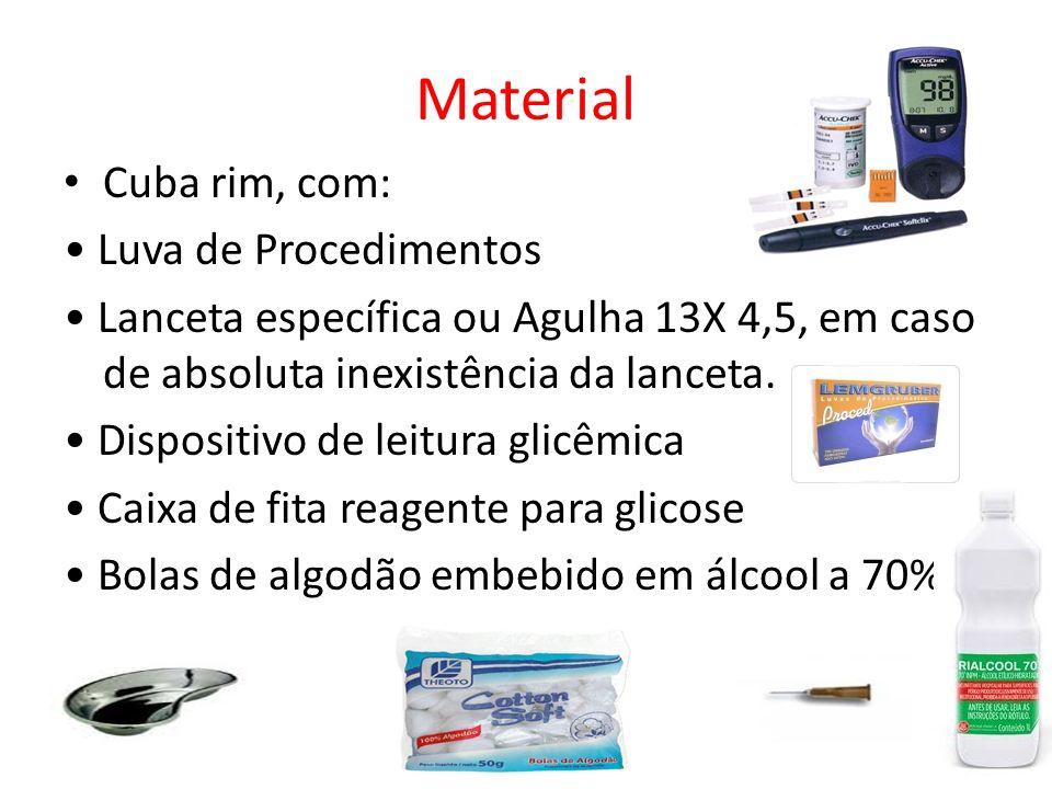 Material Cuba rim, com: • Luva de Procedimentos