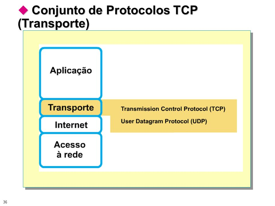 Conjunto de Protocolos TCP (Transporte)