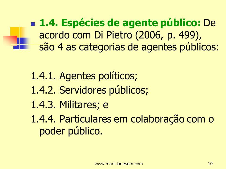 1.4.4. Particulares em colaboração com o poder público.