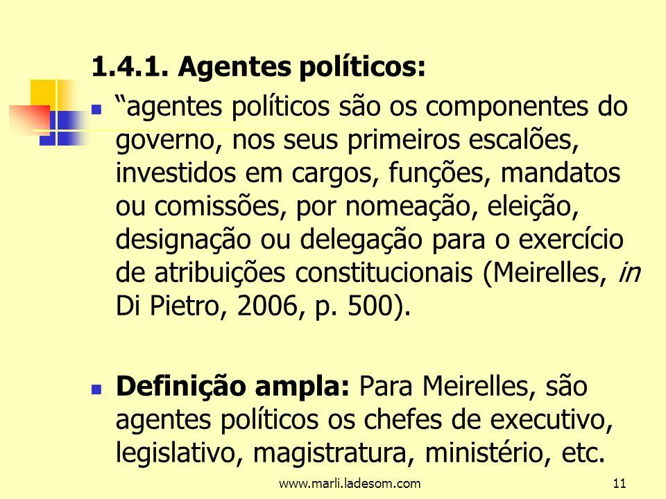 1.4.1. Agentes políticos: