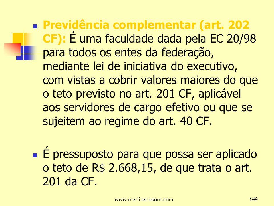 Previdência complementar (art