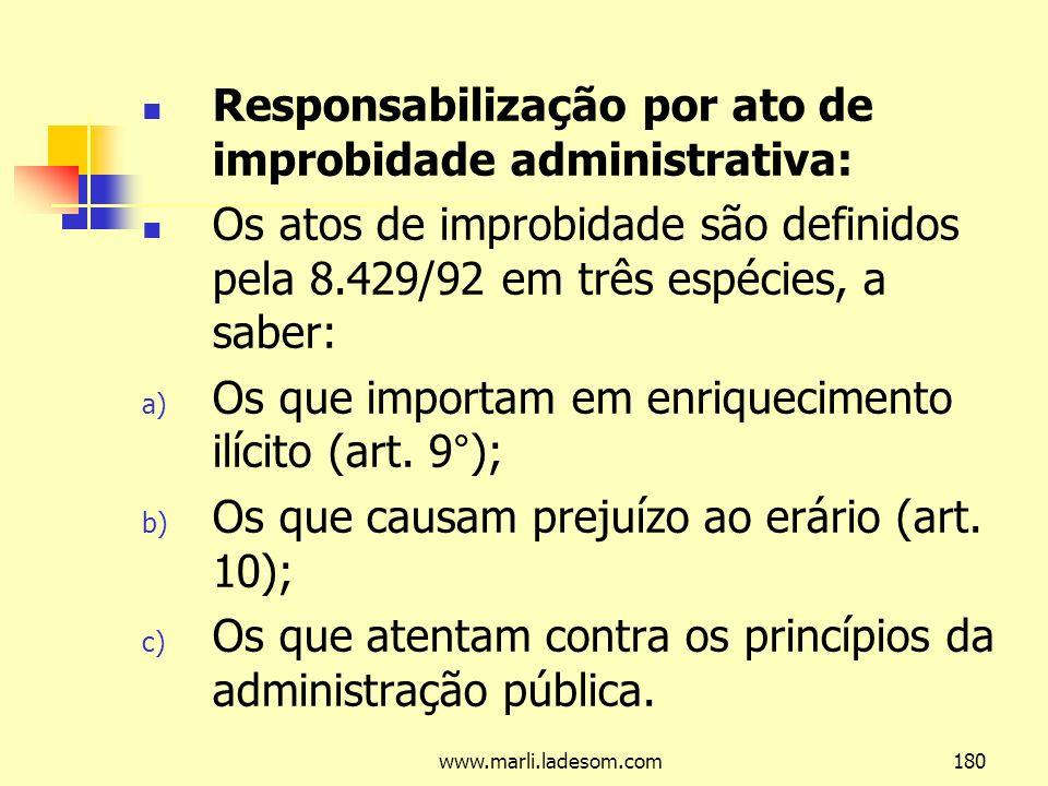 Responsabilização por ato de improbidade administrativa: