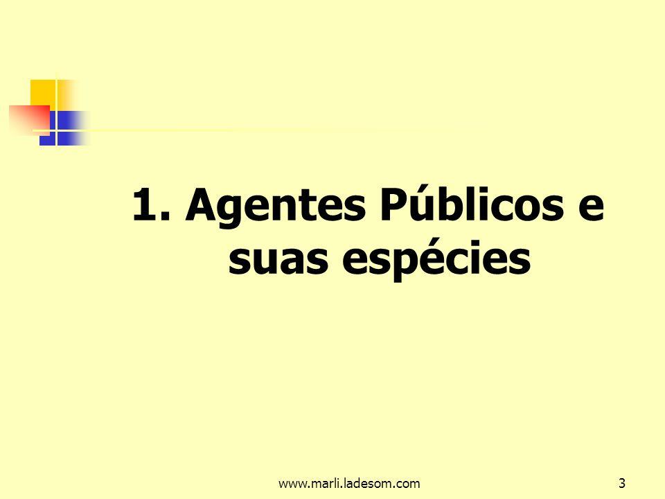1. Agentes Públicos e suas espécies