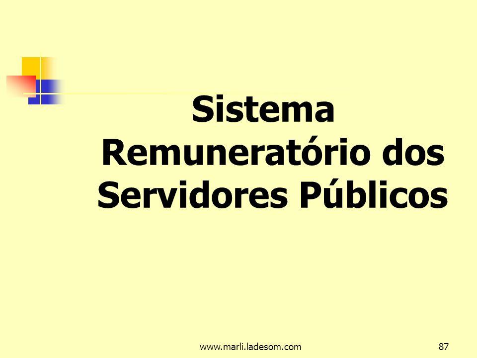 Sistema Remuneratório dos Servidores Públicos