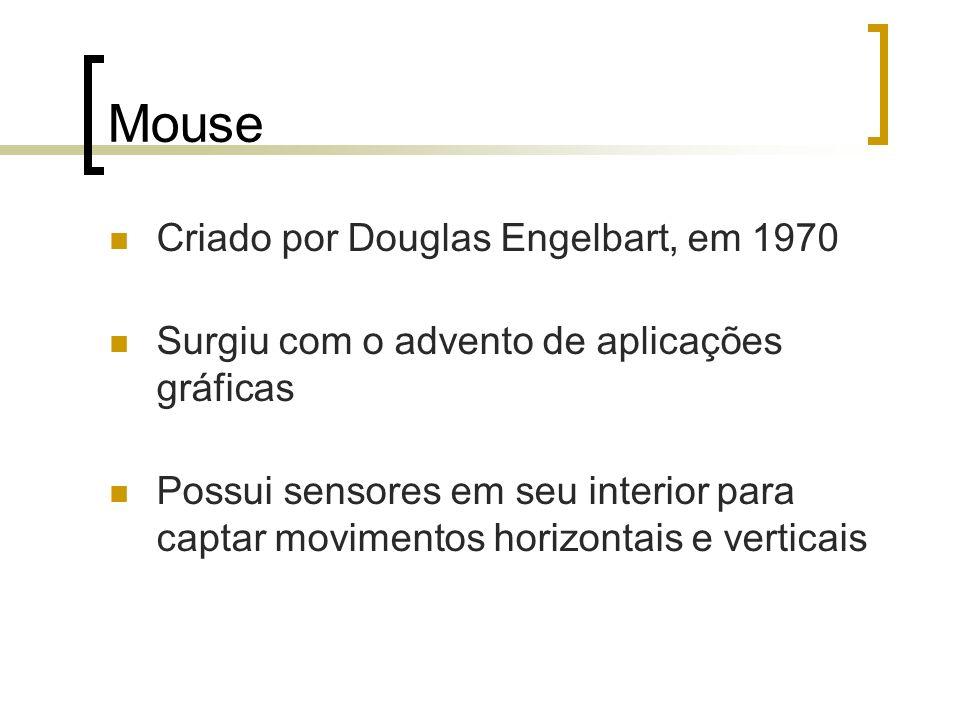 Mouse Criado por Douglas Engelbart, em 1970